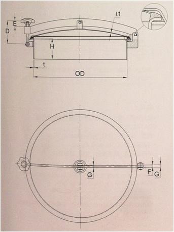 Round Outward Manway With Pressure