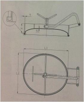 Oval Inward Manway