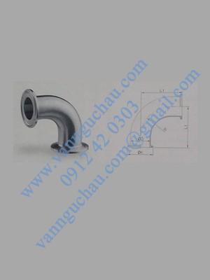 Cút inox 90 độ nối clamp tiêu chuẩn ISO/IDF