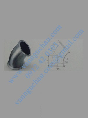 Cút 45° nối clamp inox vi sinh tiêu chuẩn 3A