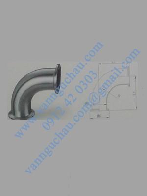 Cút inox 90 độ nối clamp tiêu chuẩn DIN